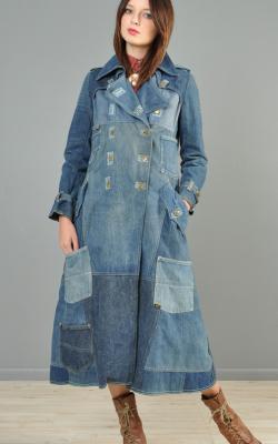 С чем носить джинсовое пальто фото 4