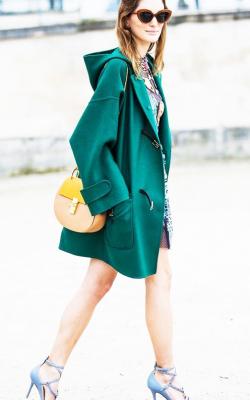 С чем носить короткое пальто с капюшоном фото 3