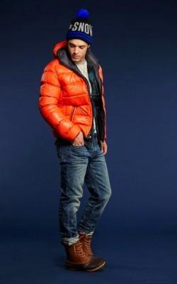 С чем носить мужскую куртку пуховик зимой фото 13
