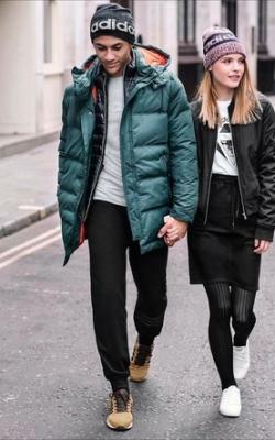 С чем носить мужскую куртку пуховик зимой фото 15