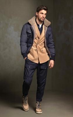 С чем носить мужскую куртку пуховик зимой фото 16