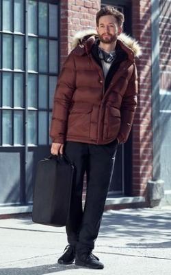 С чем носить мужскую куртку пуховик зимой фото 17