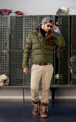 С чем носить мужскую куртку пуховик зимой фото 2