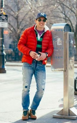 С чем носить мужскую куртку пуховик зимой фото 3