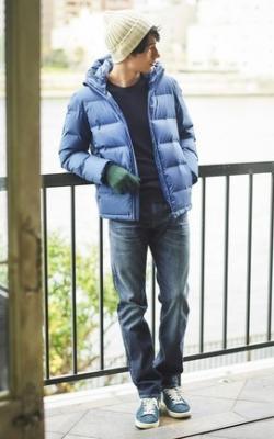 С чем носить мужскую куртку пуховик зимой фото 7