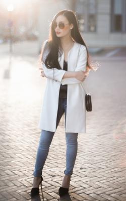 С чем носить пальто без воротника фото 5