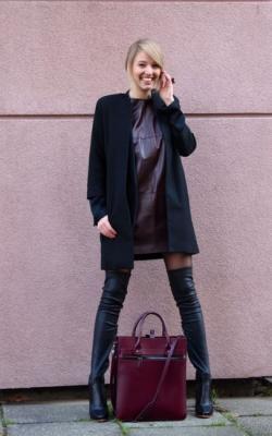 С чем носить пальто без воротника фото 2