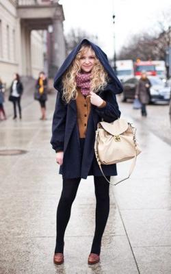 С чем носить пальто с капюшоном фото 1