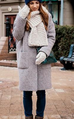 С чем носить шерстяное пальто фото 1