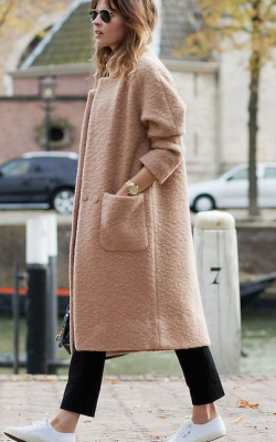 С чем носить шерстяное пальто фото 2