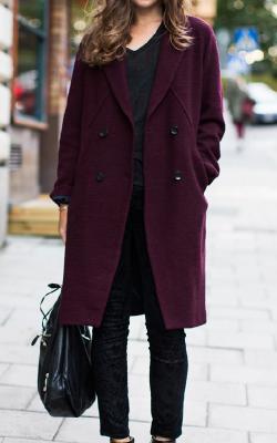 С чем носить шерстяное пальто фото 3