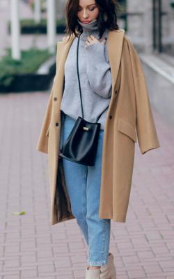 С чем носить шерстяное пальто фото 8