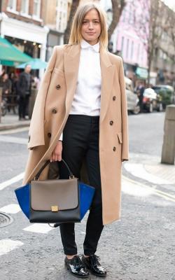 С чем носить женское пальто из кашемира фото 4
