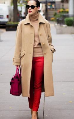 С чем носить женское пальто из кашемира фото 7