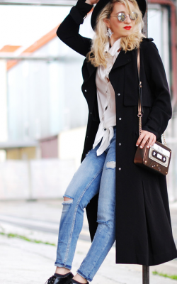 С чем носить женское пальто из кашемира фото 8