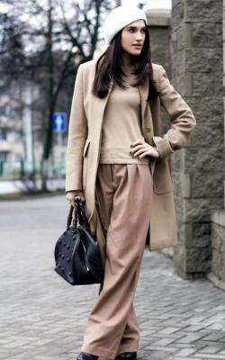 С чем носить женское пальто из кашемира фото 9