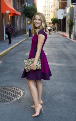 С чем носить фиолетовое платье 2