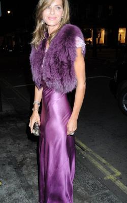 С чем носить фиолетовое платье 4