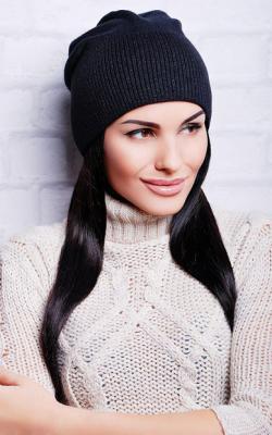 шерстяная женская шапка фото 3