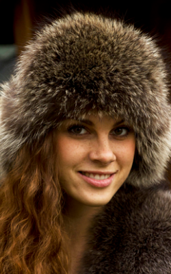 Женская шапка ушанка зима фото 1