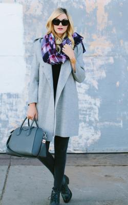 шарф на пальто с капюшоном фото 2