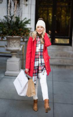 шарф на пальто с капюшоном фото 4