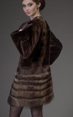 Шуба из стриженного бобра фото 9