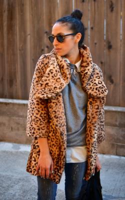 Шуба с леопардовым принтом - 2