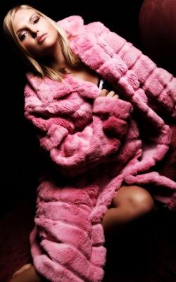 Розовая шуба из норки - 2