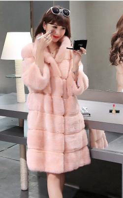 Розовая шуба из норки - 3