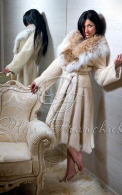 Норковая шуба с рысью фото 9