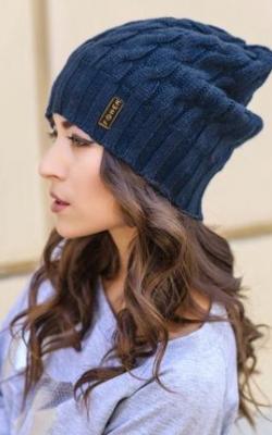 Синяя шапка фото 1