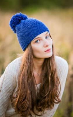 Синяя шапка фото 2