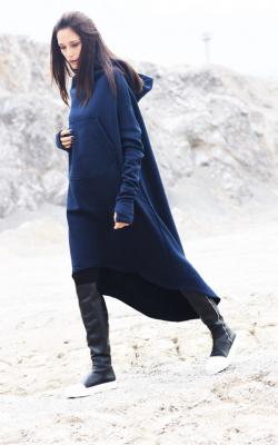 Спартивное пальто с капюшоном фото 2
