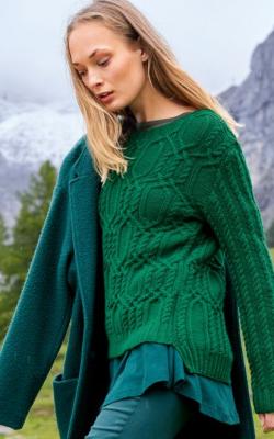 Вязаный свитер с удлиненной спинкой фото 1