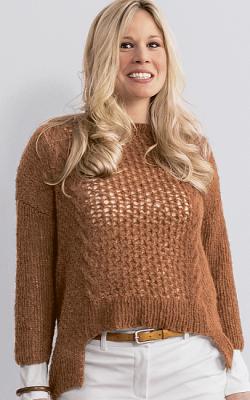 Вязаный свитер с удлиненной спинкой фото 2