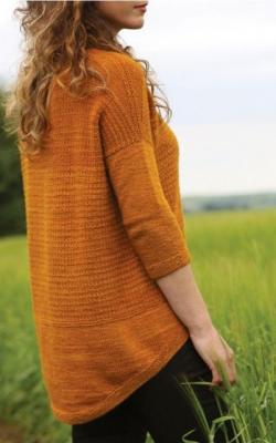 Вязаный свитер с удлиненной спинкой фото 3