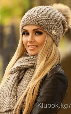 Как украсить женскую зимнюю шапку фото 3