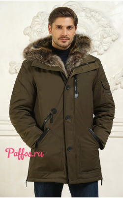 Зимние мужские куртки цвета хаки фото 1