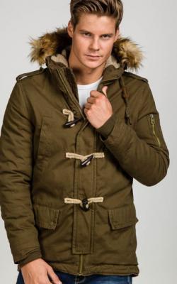 Зимние мужские куртки цвета хаки фото 2