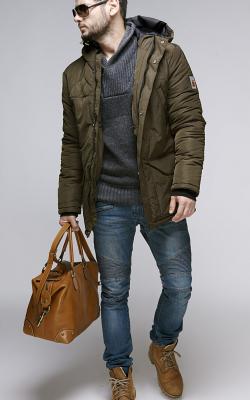 Зимние мужские куртки цвета хаки фото 3