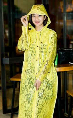 Желтый женский плащ дождевик фото 1