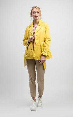 Желтый женский плащ дождевик фото 4