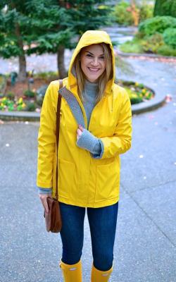 Желтый женский плащ дождевик фото 14