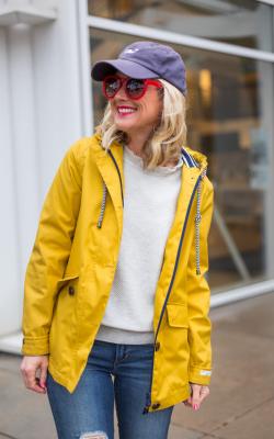 Желтый женский плащ дождевик фото 16