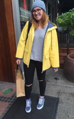 Желтый женский плащ дождевик фото 17