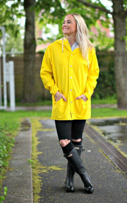Желтый женский плащ дождевик фото 18