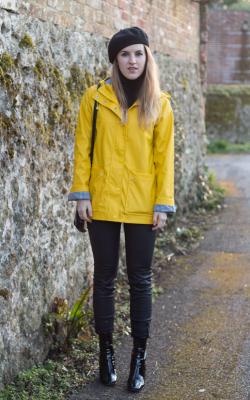 Желтый женский плащ дождевик фото 21