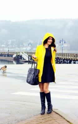 Желтый женский плащ дождевик фото 27
