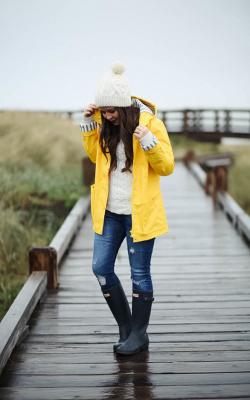 Желтый женский плащ дождевик фото 34